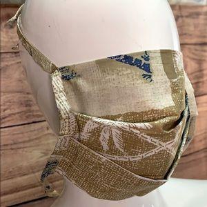 Handmade Island tropical facemask cover NEW mens